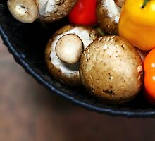 Mushrooms and peppers2 by Dipali S