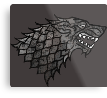 House Stark Sigil from Game of Thrones Metal Print