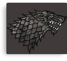 House Stark Sigil from Game of Thrones Canvas Print