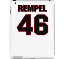 NFL Player Chad Rempel fortysix 46 iPad Case/Skin