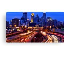Minneapolis Saturday Night Canvas Print