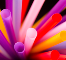 Colorful drinking straws Sticker