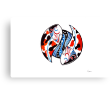 Koi fish Yin & Yang Canvas Print