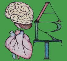 Brain Heart Art by Immy Smith