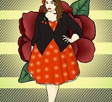 Fat Rockabilly Chick by CatAstrophe