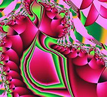 Cute Pattern in hot pink and green by walstraasart