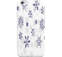 Blue and White Holiday Snowflakes iPhone Case/Skin