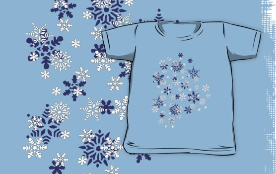 Blue and White Holiday Snowflakes by taiche