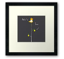 The 1st day of Christmas Framed Print