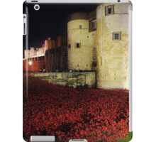 Poppies at the Tower of London - Night #3 iPad Case/Skin