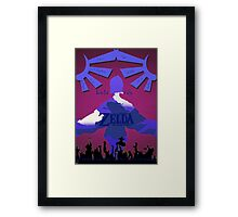 Legend of Zelda: Skyward Sword - Link - Fi - Loftwing Framed Print