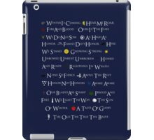 Game of Thrones House Mottos iPad Case/Skin