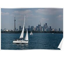 Summer Sailing Postcard from Toronto Poster