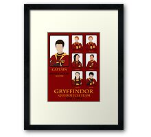 Gryffindor Quidditch Team 1991-1994 Framed Print