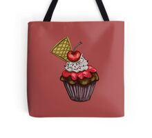 Double Cherry Chocolate Cupcake Tote Bag