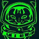 GREEN SPACE CAT SMARTPHONE CASE (Graffiti) by leethompson
