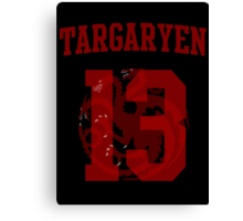 House Targaryen Jersey Canvas Print