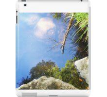 Reflection in a mountain stream iPad Case/Skin