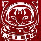 RED GALAXY SPACE CAT SMARTPHONE CASE (Graffiti) by leethompson