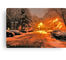 """""""A Snowy Evening in Knoxville"""" (no.1, from this series)... products Canvas Print"""