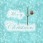 teal christmas owl  by studenna