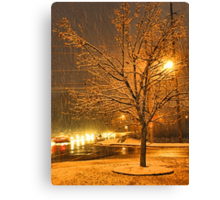 """""""A Snowy Evening in Knoxville"""" (no.3, from this series)... products  Canvas Print"""