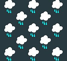 Rain Cloud Pattern by Leah Flores