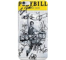 Newsies Signed Playbill iPhone Case/Skin