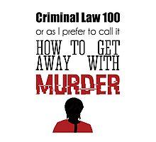 Criminal Law 100 Photographic Print