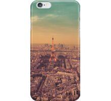 Paris - City of Lights at Sunset iPhone Case/Skin