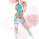 LFW SS2015 Fashion Illustration  by gaarte