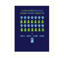 Dr Who: Space Invader Art Print