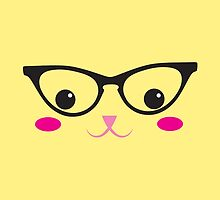 Cute kitty in glasses by jazzydevil