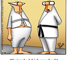 """Funny """"Spectickles"""" Martial Arts Cartoon by abbottoons"""