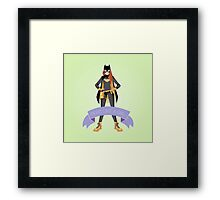 Fight Like a Girl: Batgirl Framed Print