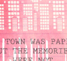 The Town Was Paper Sticker