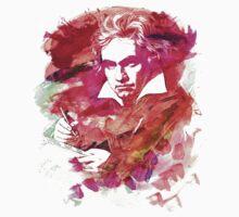 Ludwig van Beethoven Watercolor Remix  Kids Clothes