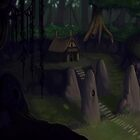 Coloured Witches Hut by Brandon  Riddoch