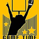 Game Time - Football (Yellow) by Adamzworld