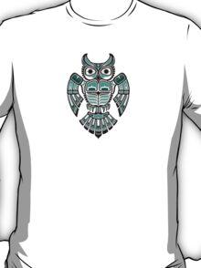 Teal Blue Haida Spirit Owl T-Shirt