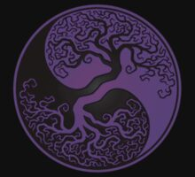 Purple and Black Tree of Life Yin Yang Kids Clothes