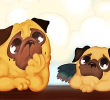 Michelangelo's pugs by elenapugger