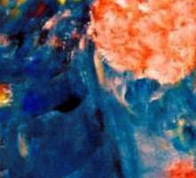 Romance Flowers in Blue Vase Designer Decor & Gifts Sticker