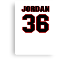 NFL Player Jordan Lynch thirtysix 36 Canvas Print