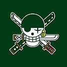 【6800+ views】ONE PIECE: Jolly Roger of Roronoa Zoro by Ruo7in