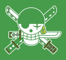 【6800+ views】ONE PIECE: Jolly Roger of Roronoa Zoro Kids Clothes