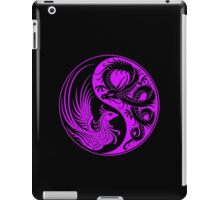 Purple and Black Dragon Phoenix Yin Yang iPad Case/Skin