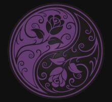 Purple and Black Yin Yang Roses Kids Clothes