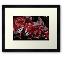 Goldfish Lanterns Framed Print