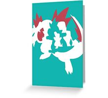【13800+ views】Pokemon Totodile>Croconaw>Feraligatr Greeting Card